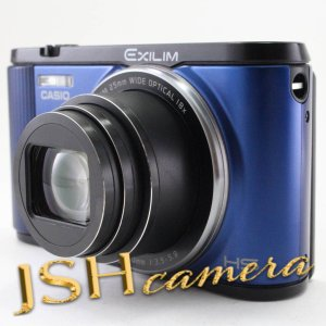 【中古】CASIO デジタルカメラ EXILIM EX-ZR1600BE 自分撮りチルト液晶 オートトランスファー機能 Wi-Fi/Bluetooth搭載 ブルー|jsh