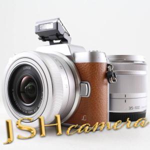 パナソニック ミラーレス一眼カメラ DMC-GF7ダブルズームレンズキット 標準ズームレンズ/望遠ズームレンズ付属 ブラウン DMC-GF7W-T|jsh