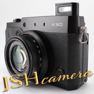 【中古】FUJIFILM プレミアムコンパクトデジタルカメラ X30 ブラック FX-X30B|jsh