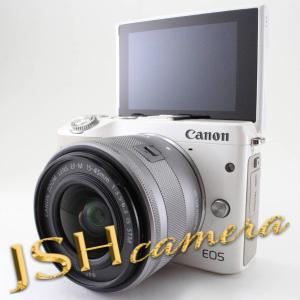 【中古】Canon ミラーレス一眼カメラ EOS M3 レンズキット(ホワイト) EF-M15-45mm F3.5-6.3 IS STM 付属 EOSM3WH-1545ISSTMLK jsh