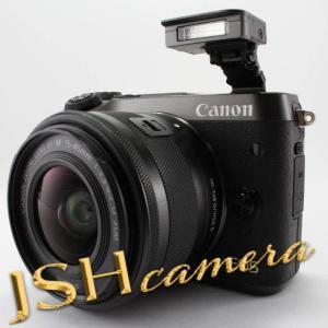 【中古】Canon ミラーレス一眼カメラ EOS M6 レンズキット(ブラック) EF-M15-45mm F3.5-6.3 IS STM 付属 EOSM6BK-1545ISSTMLK jsh