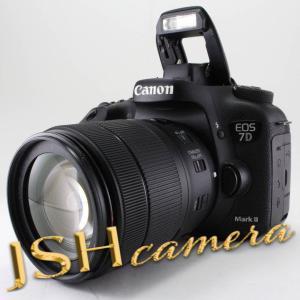 【中古】Canon デジタル一眼レフカメラ EOS 7D MarkII レンズキット EF-S18-135mmF3.5-5.6 ISUSM Wi-FiアダプターW-E1付属|jsh