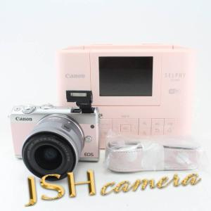 Canon ミラーレス一眼 EOS M100 リミテッドピンクフォトキット EF-M15-45 IS STM/SELPHY CP1300付属|jsh