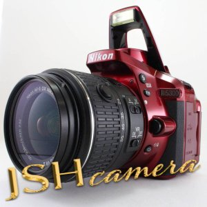 Nikon デジタル一眼レフカメラ D5300 18-55mm VR II レンズキット レッド 2400万画素 3.2型液晶 D5300LK18-55VR2RD jsh