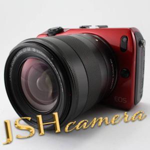 【中古】Canon ミラーレス一眼カメラ EOS M レンズキット EF-M18-55mm F3.5-5.6 IS STM付属 レッド EOSMRE-18-55ISSTMLK jsh