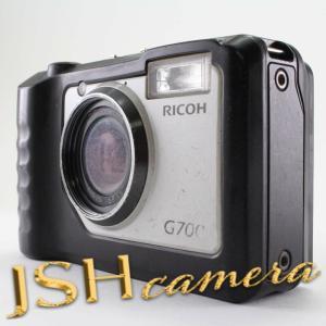 【中古】RICOH デジタルカメラ G700 広角28mm 防水5m 耐衝撃2.0m 防塵 耐薬品性 174380|jsh