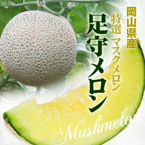 岡山県産 特選 足守メロン1玉(約1.2kg)...