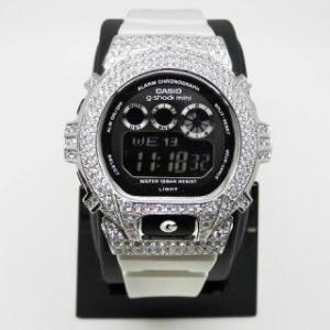 【Custom G-Shock カスタムGショック】シルバー スワロフスキー メンズ腕時計【送料無料・代引き手数料無料】SV 男性用 ウォッチ/かすたむ じーしょ|jsj