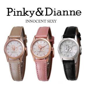 【Pinky&Dianne】人気のピンキー&ダイアン腕時計!文字盤にラインストーン・ベージュレザーベルトを使用した大人かわいいウォッチ! PD001PBE P&D jsj 03