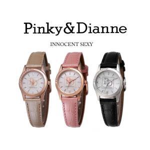 【Pinky&Dianne】人気のピンキー&ダイアン腕時計!文字盤にラインストーン・ベージュレザーベルトを使用した大人かわいいウォッチ! PD001PBE P&D jsj 06