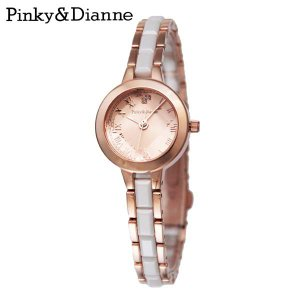 【Pinky&Dianne】人気のピンキー&ダイアン腕時計!カットガラスがキラキラ美しくベルトのセラミックが都会的なイメージのウォッチ PD005PPK P&D|jsj
