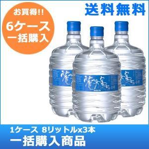 送料無料!名水の旅人社 麗峰富士V40 8リットルボトル6ケース(18本)|jspark