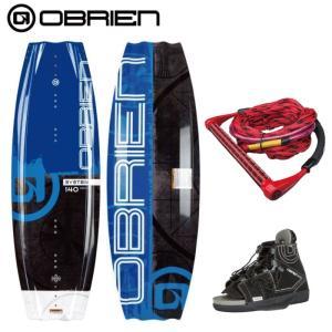 予約【ボード・ビンディング・ハンドルライン 3点セット】  オブライアン SYSTEM 140cm CLUTCH OBRIEN  システム クラッチ ビンディング ウエイクボード|jsptokai
