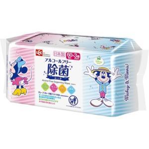ミッキー&ミニー ノンアルコール 除菌シート 日本製 パラベンフリー 60枚入*3コパック jsrstore