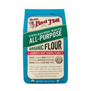 ボブズレッドミル オーガニック アンブリーチド ホワイト オールパーパスフラワー(オーガニック ハードレッドスプリング小麦粉)2.27kg 中力粉