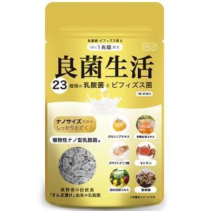 乳酸菌 サプリ 良菌生活 30日分 60粒 サプリメント 23種の乳酸菌 ビフィズス菌 植物性ナノ型乳酸菌 セール|jtr-store