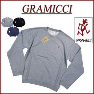 GRAMICCI グラミチ SWEAT SHIRTS ランニングマン ワンポイント刺繍 スウェットシ...
