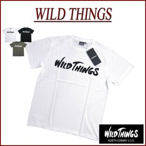 WILD THINGS ワイルドシングス FLOCKING LOGO TEE フロッキング ロゴ 半袖 Tシャツ WT20045Kの画像