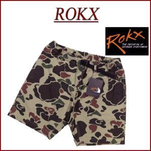 ROKX ロックス ダックハンター カモフラージュ コットンストレッチ ショートパンツ RXMS19...