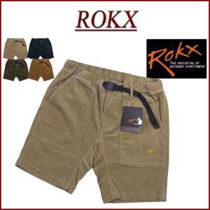 ROKX ロックス MG PIRATE SHORT ストレッチ コーデュロイ ベイカー ショートパン...