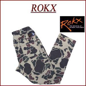 ROKX ロックス CAMOUFLAGE FATIGUE PANT ダックハンターカモフラージュ ス...