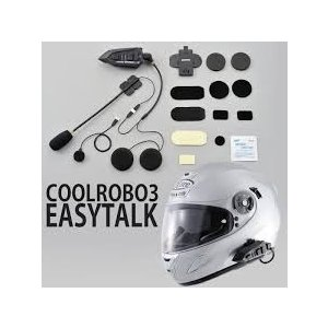デイトナ(DAYTONA) バイク用インカム COOLROBO(クールロボ) EasyTalk3(イージートーク3) 2個セット jubet-store