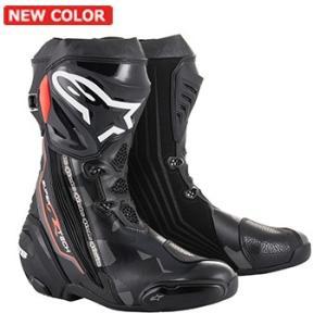 Alpinestars SUPERTECH-R ロードブーツ BLACK DARK GRAY RED FLUO  送料無料!|jubet-store