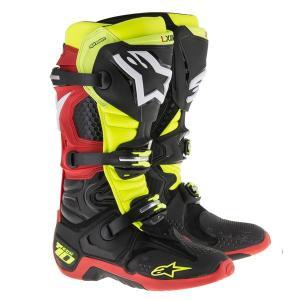 Alpinestars TECH10 BOOT オフロードブーツ  ブラック/イエロー/レッド 新品  送料無料!|jubet-store