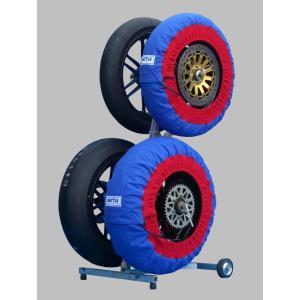タイヤウォーマー SET 250 モタード (青色) jubet-store