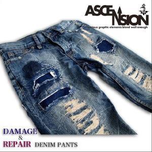 ASCENSION(アセンション)ダメージ&リペアデニムパンツ【DAMAGE & REPAIR DENIM PANTS】as-365|juice16