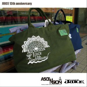 JUICE(ジュース) × ASCENSION(アセンション)tote bag 【JUICE 13th anniversary】  as-401|juice16