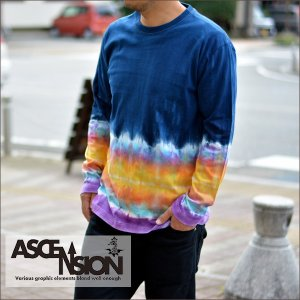 ASCENSION(アセンション)インディゴ グラデーションロングTシャツ- LIMITED EDITION All Hand Made-(オールハンドメイド)】as-534|juice16