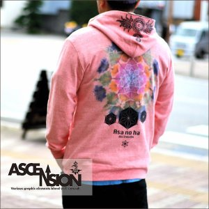 ASCENSION(アセンション)VINTAGE TIEDYE ZIP UP PARKER 【Asa no ha】as-535|juice16