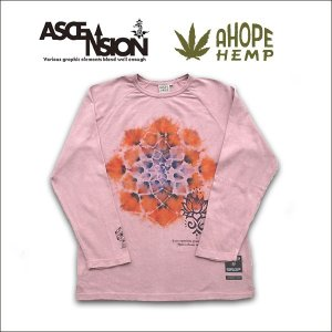 A HOPE HEMP(ホープヘンプ) × ASCENSION(アセンション) LONG TEE【MANDARA】as-538|juice16