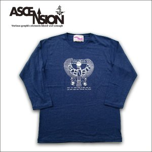 ASCENSION INDIGO七分Tシャツas-579|juice16