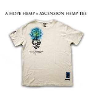 A HOPE HEMP × ASCENSION HEMP TEE 曼荼羅「MANDARA/Lotus/BMF」 as-584|juice16