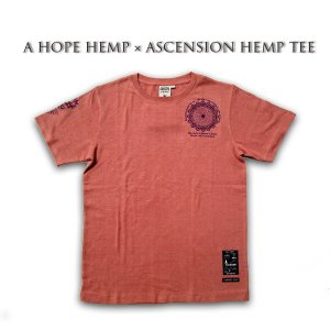 A HOPE HEMP × ASCENSION HEMP TEE 曼荼羅「Draw the yen」 as-588|juice16