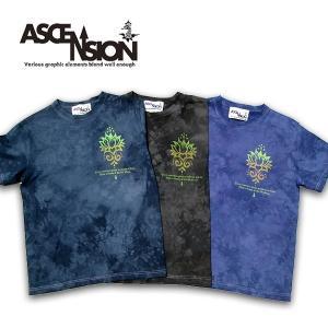 ASCENSION(アセンション)Irregularity Dye Tee ムラ染め TEEシャツ[Lotus]   as-596|juice16