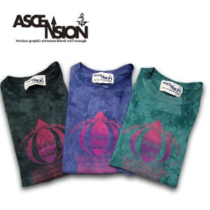 ASCENSION(アセンション)Irregularity Dye Tee ムラ染め TEEシャツ[Is it all right?]  as-597|juice16