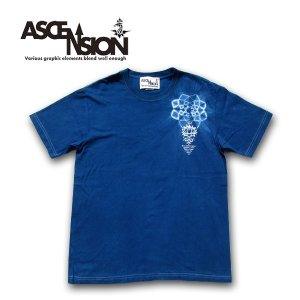 ASCENSION(アセンション)藍染め Tシャツ インディゴ染め   as-610|juice16
