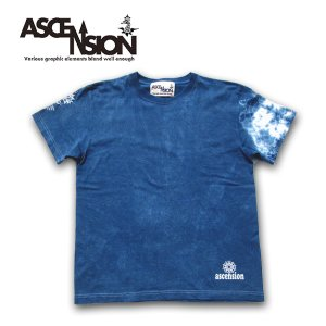 ASCENSION(アセンション)藍染め・曼荼羅 TEE   as-611|juice16