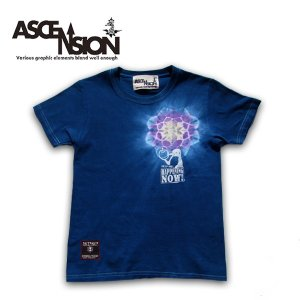 ASCENSION(アセンション)藍染め・曼荼羅 TEE   as-636|juice16