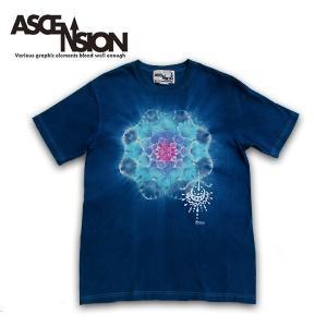 ASCENSION(アセンション)藍染めTシャツ/インディゴ Tシャツ  アウトドア 曼荼羅  as-654|juice16
