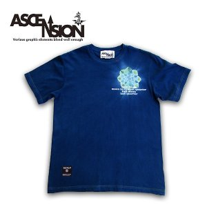 ASCENSION(アセンション)藍染め・曼荼羅 TEE【Life is a journey】JUICE 16th annyversary Tee as-667|juice16