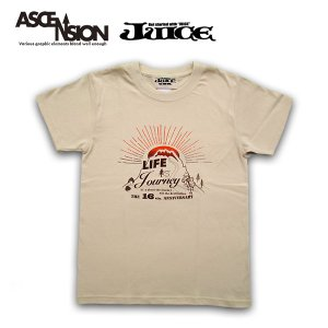 ASCENSION(アセンション)藍染め・曼荼羅 TEE【Life is a journey】JUICE 16th annyversary Tee as-670|juice16