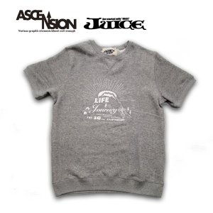 ASCENSION(アセンション)【Life is a journey】 JUICE 16th annyversary VINTAGE Short sleeve Sweat  as-672|juice16