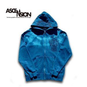 ASCENSION(アセンション)INDIGO ZIP UP PARKER(インディゴジップアップパーカー)  as-693|juice16