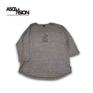 ASCENSION(アセンション)GOHEMP ROUND LOOSE TEE HEAVY JERSEY ON ASCENSION 「Ancient fish」as-729|juice16