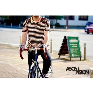 ASCENSION(アセンション)SPIRAL INDIGO BORDER TEE インディゴTシャツ 藍染めTシャツ メンズ Tシャツ タイダイ アウトドア as-766|juice16