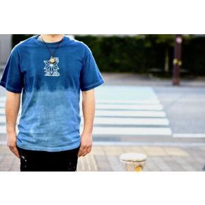 Tシャツ ASCENSION(アセンション)藍染めTEE「ASA NO HA」インディゴTシャツ 藍染めTシャツ as-772|juice16